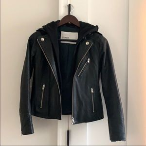 Dark forest green doma leather coat